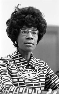 Shirley Chisholm became the first black woman elected to the House of Representatives in 1968. She was also the first to run for president. (Library of Congress/Creative Commons)