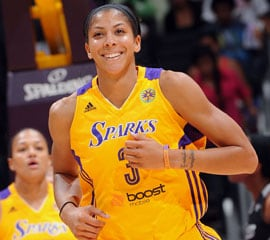Candace Parker at Los Angeles Sparks game against San Antonio Silver Stars. Copyright 2013 NBAE (Photo by Noah Graham/NBAE via Getty Images)