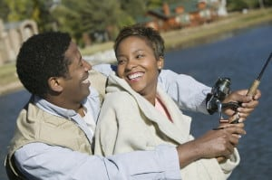 Trying something new, like  fishing, can be a key to greater happiness. (Photo: Dreamstime)