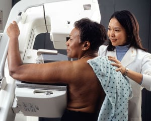 "The Affordable Care Act promises that all women over 40 are guaranteed free annual mammograms as part of their ""well woman"" physical, but there's a loophole.   (Rhoda Baer/NIH-Public Domain)"