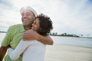 Satisfying long-term relationships may lead to better health for men and women.