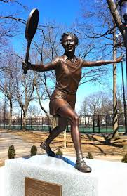 A statue in Althea Gibson's honor in Newark, N.J.
