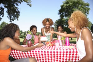 "For a frugal good time, meet your girlfriends at the park for a ""potluck picnic."" (MGP)"