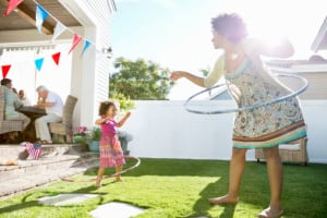 Make fitness fun by revisiting old favorites like hula-hooping. (Getty Images)