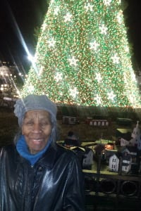 This will be the first holiday season without Alice Shurn, shown here at the National Christmas Tree in 2012.