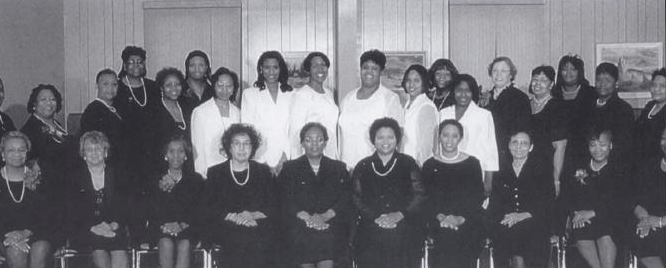Alice Shurn, third from left in the front row, was a charter member of the Benton Harbor-St. Joseph alumnae chapter of Delta Sigma Theta. (Photo courtesy of Barbara Peeples)