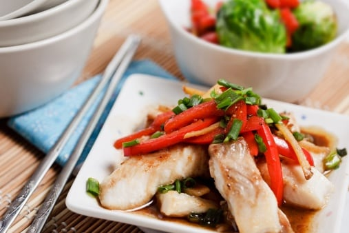 Ginger Sole En Papillote with Asian Vegetables