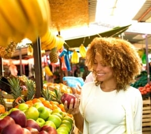 Shop for organic, low-pesticide and hormone-free foods whenever possible. (Photo: Getty Images)