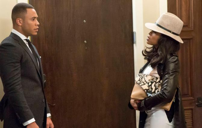 """On """"Empire,"""" Cookie Lyon (Taraji P. Henson) stands by  Andre (Trai Byers) and her other two sons, no matter what. (Photo: Fox)"""