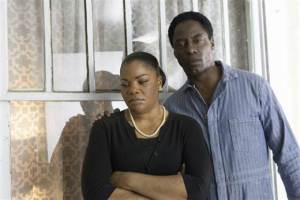 "Mo'Nique with ""Blackbird"" co-star and co-producer Isaiah Washington."