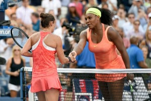 Serena Williams and Roberta Vinci of Italy at the U.S. Open. (Photo: Pete Staples/USTA)