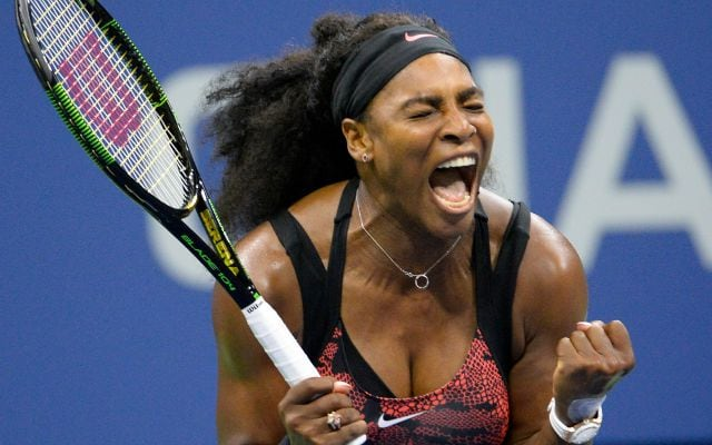 Serena Williams celebrates winning the third round of the 2015 U.S. Open in her quest for a Grand Slam. (Photo: USATSI)