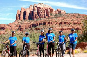 Sometimes GirlTrekkers ride, too, like this group in Sedona, Ariz. (Photo: GirlTrek)