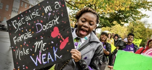 Nurses are addressing violence against girls and boys, self-esteem and cyber-bullying. (Photo: Funders for Justice)