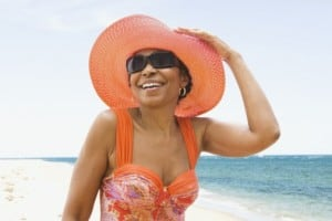 Hats are not only in, they can save your gorgeous skin. Getty: Jose Luis Pelaez, Inc.