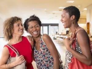Single women often have better relationships with friends. Getty: Jose Luiz Peleaz, Inc.