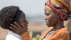 "Lupita Nyong'o with Madina Nalwanga, who portrays her daughter, Philona Mutesi, in ""Queen of Katwe."" (Photo: Disney)"